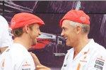 Jenson Button (McLaren) und Martin Whitmarsh