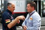 Franz Tost mit Pirelli-Sportchef Paul Hembery