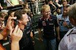 Sebastian Vettel (Red Bull) und Christian Horner