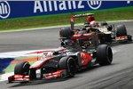 Jenson Button (McLaren) und Romain Grosjean (Lotus)
