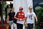 Felipe Massa (Ferrari) mit seinem Bruder und Manager Nicolas Todt