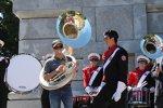 Ricky Stenhouse Jun. als Tuba-Spieler bei einer Marching-Band