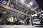 Box von Lewis Hamilton (Mercedes)