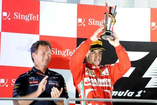 Ferrari Scuderia Ferrari F1 ~Christian Horner (Red Bull) und Fernando Alonso (Ferrari) ~
