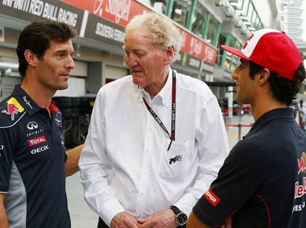 Mark Webber, Daniel Ricciardo, Ron Walker