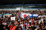 Japanische Fans beim traditionellen Pitwalk am Donnerstag