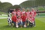 MotoGP-Fahrer beim Fußballspielen in Australien