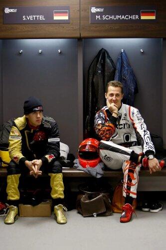 Sebastian Vettel Michael Schumacher  ~Sebastian Vettel (Red Bull) und Michael Schumacher ~