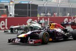 Sebastian Vettel (Red Bull) und Nico Rosberg (Mercedes)