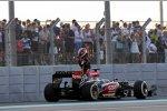 Kimi Räikkönen (Lotus) kam im Rennen nur eine Kurve weit