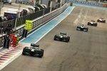 Charles Pic (Caterham), Giedo van der Garde (Caterham), Valtteri Bottas (Williams), Jules Bianchi (Marussia) und Max Chilton (Marussia)