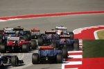 Daniel Ricciardo (Toro Rosso), Jean-Eric Vergne (Toro Rosso), Felipe Massa (Ferrari) und Jenson Button (McLaren)