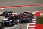 Daniel Ricciardo (Toro Rosso), Jean-Eric Vergne (Toro Rosso), Felipe Massa (Ferrari), Jenson Button (McLaren) und Pastor Maldonado (Williams)