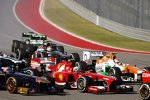 Adrian Sutil (Force India), Felipe Massa (Ferrari), Jean-Eric Vergne (Toro Rosso) und Esteban Gutierrez (Sauber)