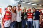 Felipe Massa und Fernando Alonso mit Hollywood-Stars