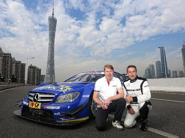 Mika Häkkinen und Bernd Schneider in China
