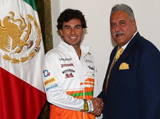 Vijay Mallya, Sergio Perez