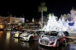 Die vier WRC-Boliden