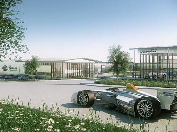 Geplantes Formel-E-Hauptquartier in Donington