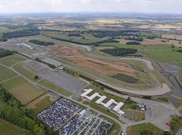 Formel-E-Baustelle in Donington