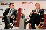 NASCAR-Präsident Mike Helton und NASCAR-Chef Brian France bei der ersten Fragestunde zum neuen Chase-Format