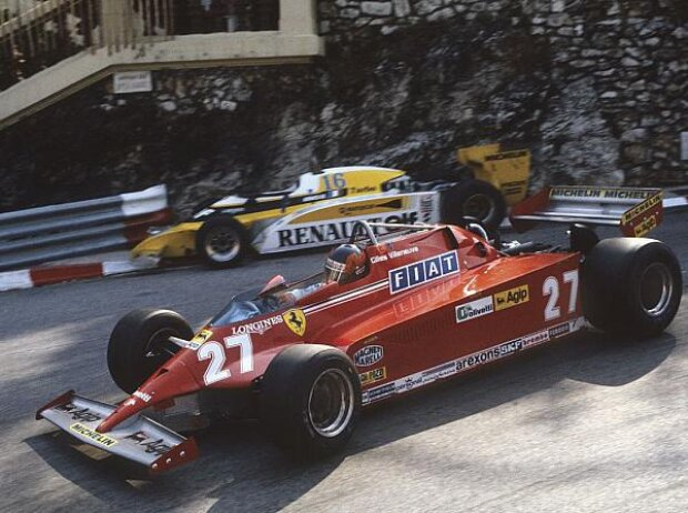 Rene Arnoux, Gilles Villeneuve, Monaco, 1981