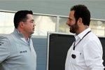 Eric Boullier (McLaren) und Matteo Bonciani (FIA)