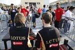 Romain Grosjean (Lotus) und Charles Pic