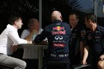 Christian Horner, Helmut Marko und Adrian Newey (Red Bull)