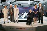 Susie Wolff, Valtteri Bottas, Felipe Massa und Felipe Nasr (Williams), Frank Williams und Claire Williams