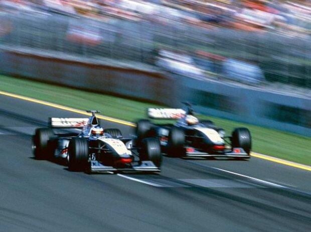 Mika Häkkinen, David Coulthard, Melbourne 1998
