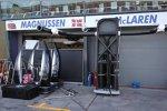 Die Seitenkästen des McLaren wurden schwarz lackiert