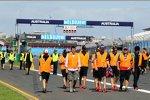 Trackwalk der Formel 1 am Mittwoch