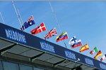 Flaggen und Atmosphäre