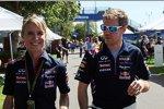 Britta Roeske und Sebastian Vettel (Red Bull)