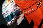 Helm von Testfahrer Daniel Juncadella (Force India)
