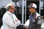 Manager Didier Coton mit Esteban Gutierrez (Sauber)