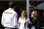 Susie Wolff, Toto Wolff und Claire Williams
