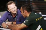 Christian Horner (Red Bull) und Cyril Abiteboul (Caterham)