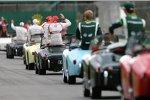 Die Fahrerparade vor dem Grand Prix in Melbourne