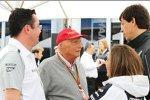 Eric Boullier, Niki Lauda, Claire Williams und Toto Wolff