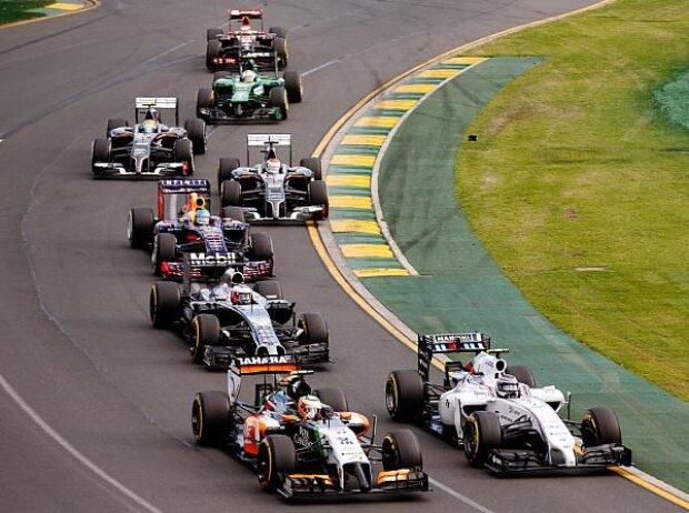 Valtteri Bottas, Sergio Perez, Jenson Button, Sebastian Vettel, Adrian Sutil, Esteban Gutierrez, Marcus Ericsson, Pastor Maldonado