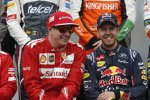 Kimi Räikkönen (Ferrari) und Sebastian Vettel (Red Bull)
