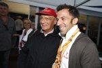 Niki Lauda und Fußballer Alessandro del Piero