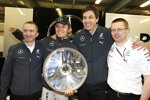 Paddy Lowe, Nico Rosberg (Mercedes), Toto Wolff und Andy Cowell