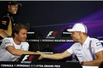 Nico Rosberg (Mercedes) und Valtteri Bottas (Williams)