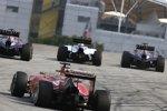 Sebastian Vettel (Red Bull), Valtteri Bottas (Williams), Daniel Ricciardo (Red Bull) und Fernando Alonso (Ferrari)