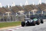 Marcus Ericsson (Caterham) und Esteban Gutierrez (Sauber)