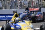Graham Rahal (Rahal) auf der Verfolgung von Marco Andretti (Andretti)