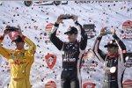 Das erste IndyCar-Podium 2014: Will Power, Ryan Hunter-Reay und Helio Castroneves